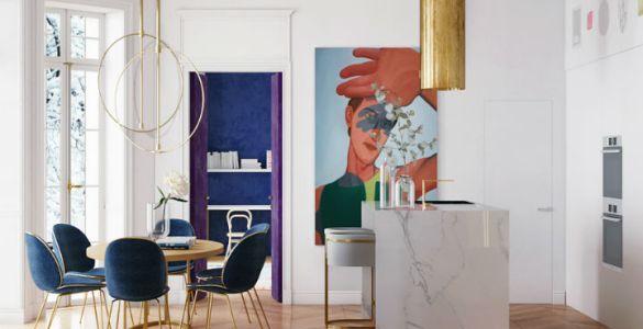 Harry Nuriev dévoile une maison aux nuances dorées et pastel