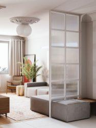 Les couleurs neutres font de cet appartement une oasis de tranquillité