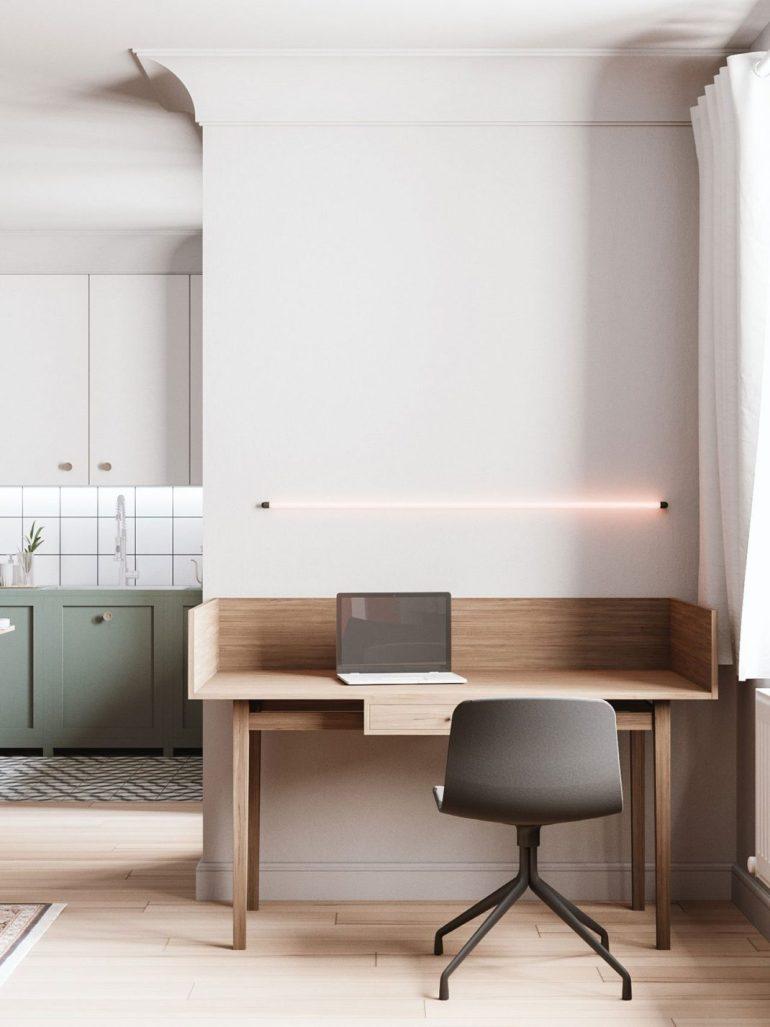 Les couleurs neutres font de cet appartement une oasis de tranquillité 3