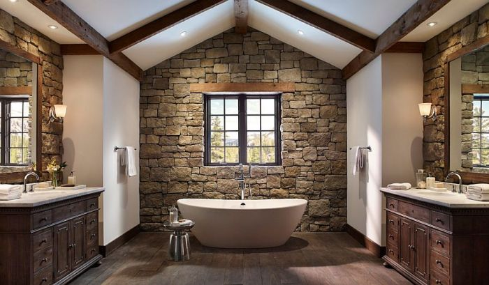 murs en pierre peuvent aussi être modernes