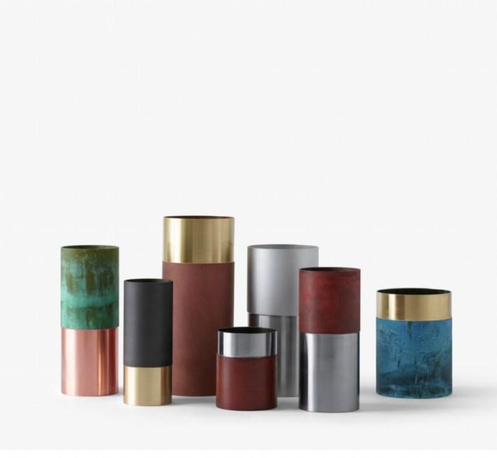 Objets déco tendances en métal vase