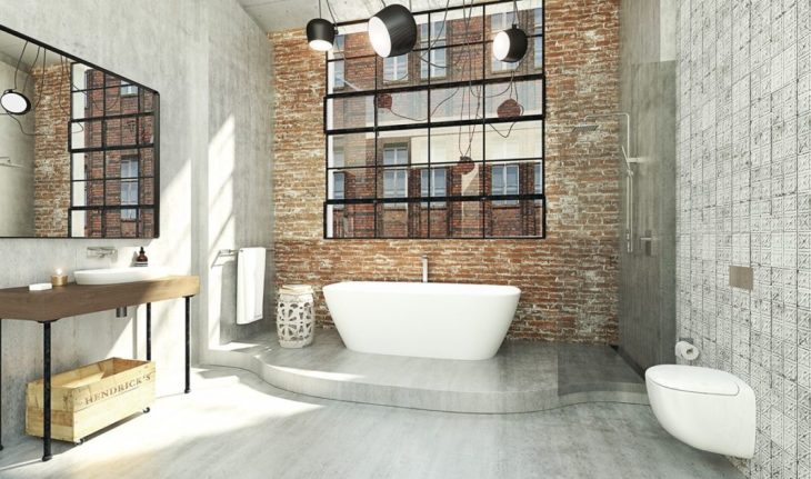 salles de bains de style industriel 17