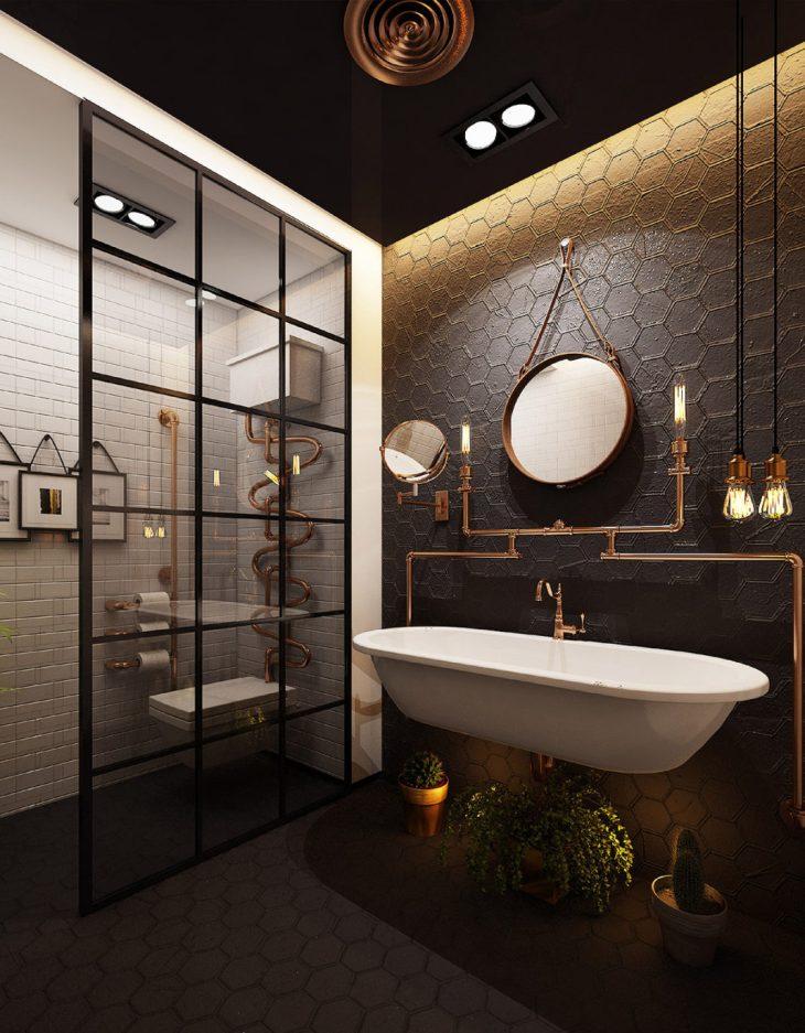 salles de bains de style industriel 32