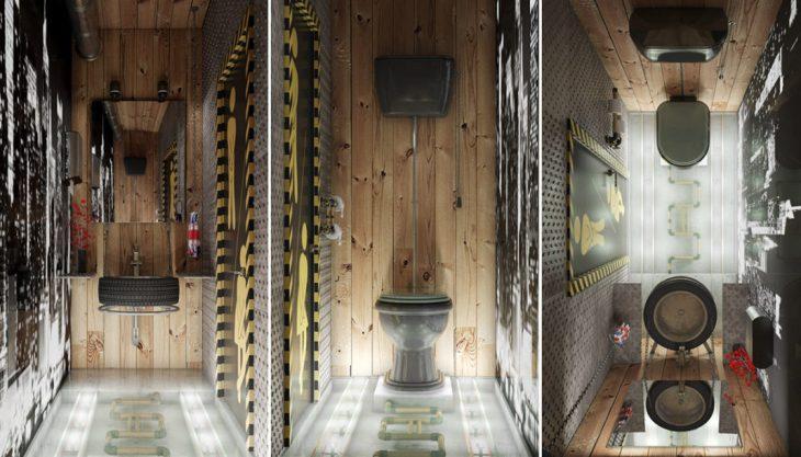 salles de bains de style industriel