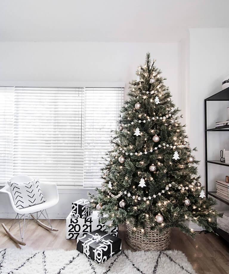 Un sapin de Noël minimaliste scandinave