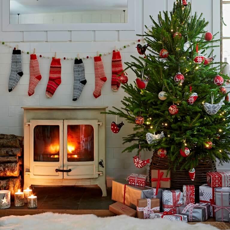 Décorations de sapins de Noëltraditionnel