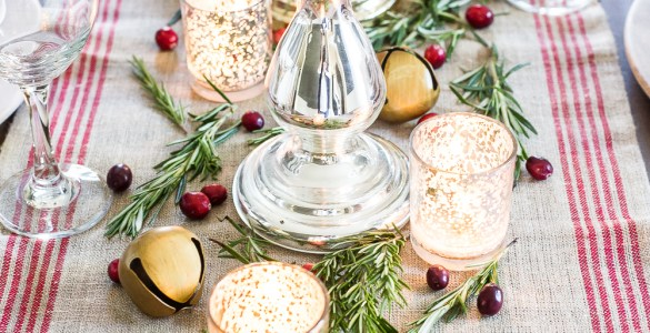 Centres de table de Noël : verre au mercure