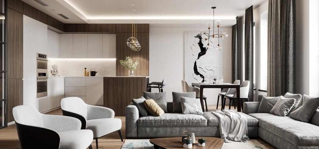 Visite d'un appartement au style glamour moderne sophistiqué