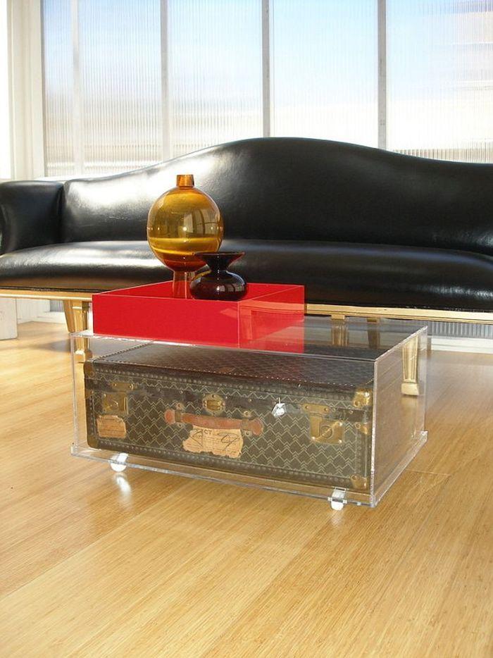 Tables basses valise et coffre25 idées déco qui associent le vintage à la vivacité 8