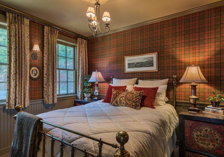 Des chambres rustiques avec une touche de couleur et des motifs 2