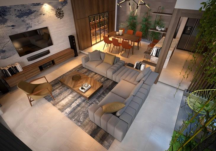 Un jardin d'intérieur dans sa maison 1
