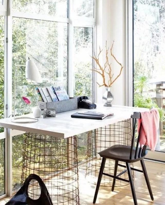 Aménager un bureau à la maison rempli de lumière