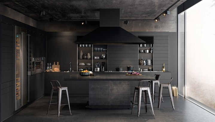 Des cuisines industrielles sombres et élégantes