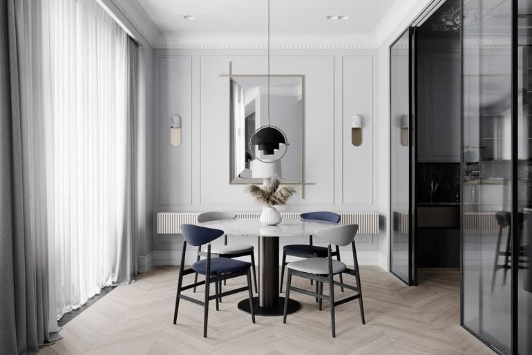décoration d'intérieur néoclassique à base de gris 3