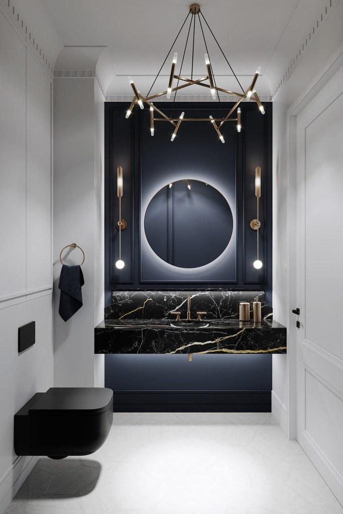décoration d'intérieur néoclassique à base de gris 7
