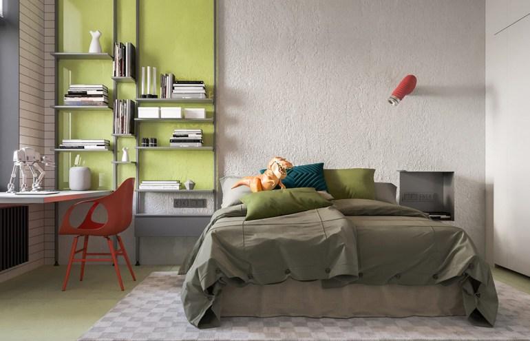 Une maison de style industriel avec une torsion colorée 7
