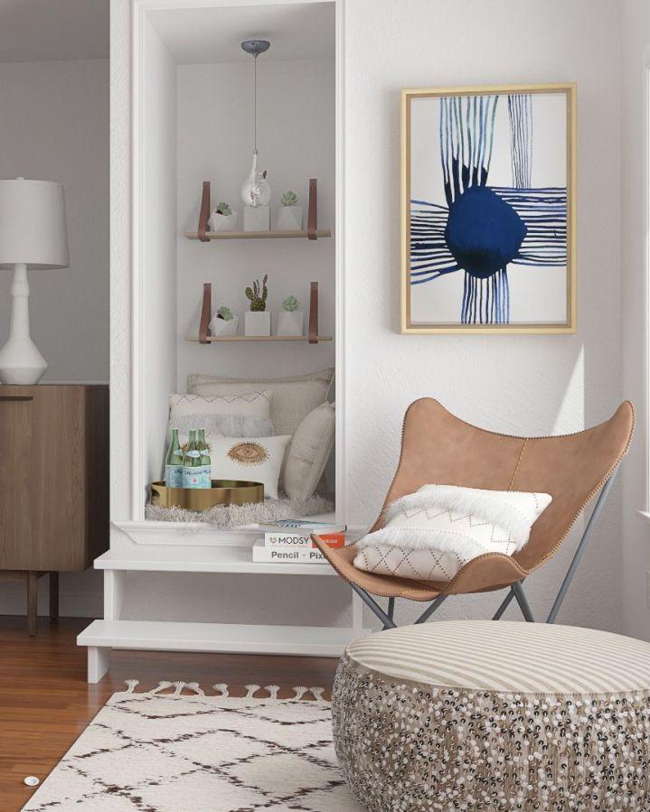 Décorer le coin d'une pièce avec des formes uniques