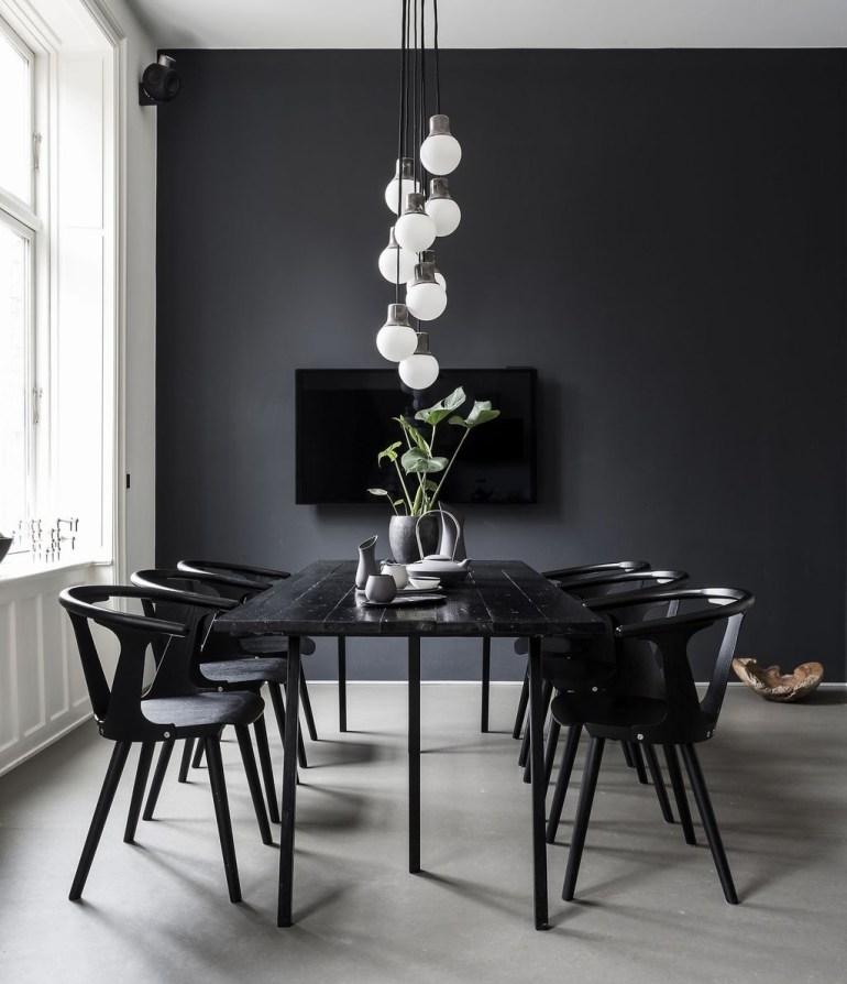 Des salles à manger masculinesla petite table noire
