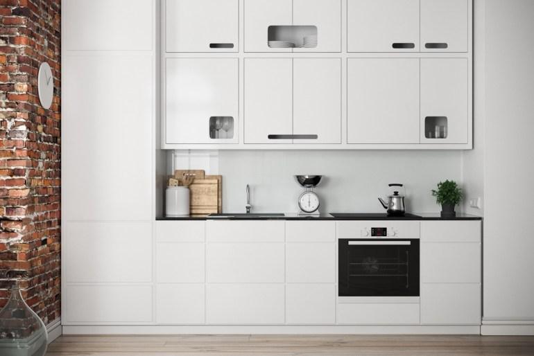Des cuisines minimalistes tout de blanc vêtues