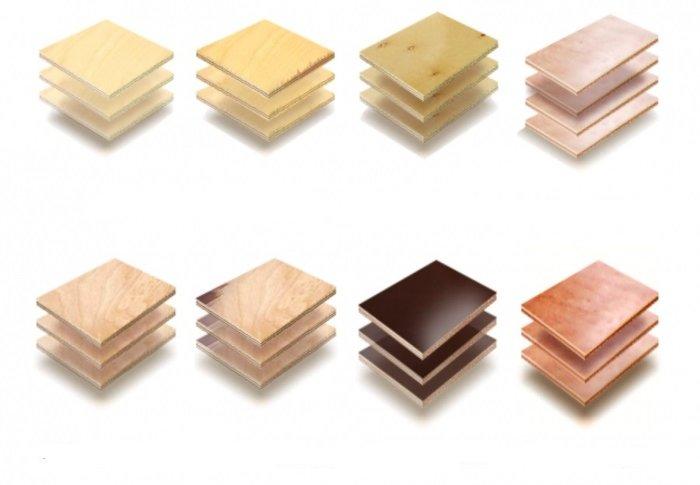 Types de plywood