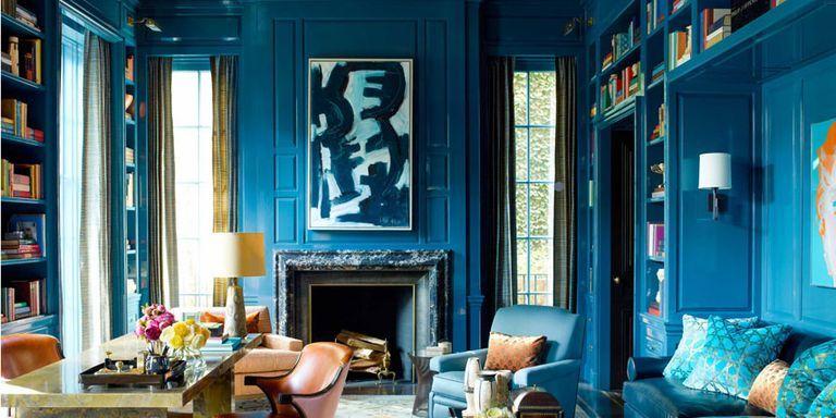décoration bleu paon
