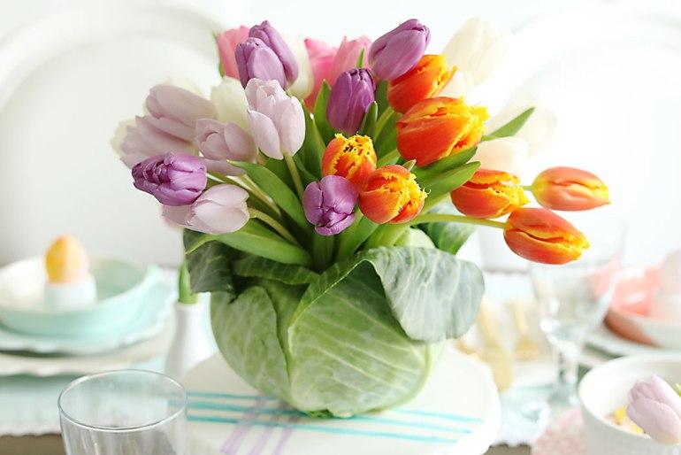 Des idées de décorations florales pour l'été avec des légumes