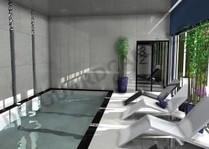 Vue de la piscine intérieur