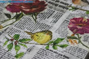 Newspaper and Magazine paper Decoupage