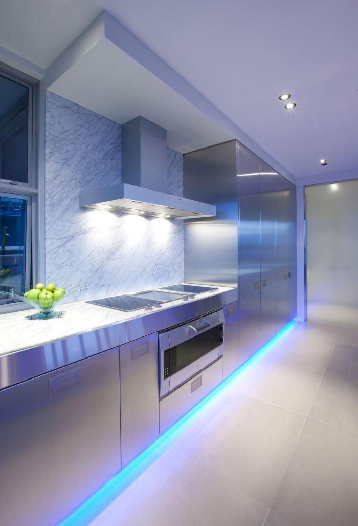 Ideas para iluminar la cocina con bombillas led  Decourban
