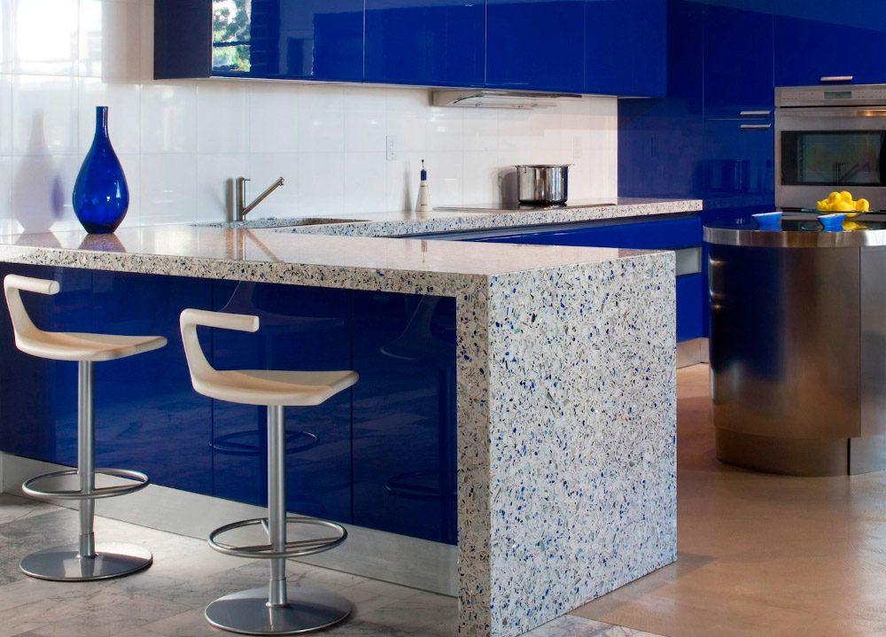 Cocina azul  Imgenes y fotos