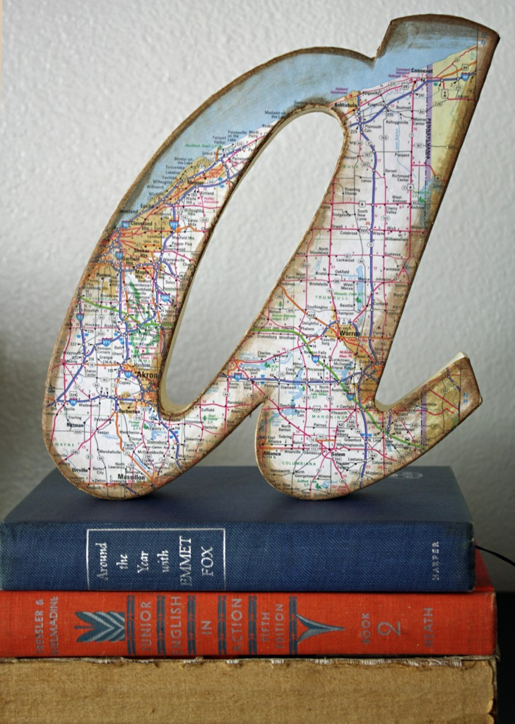 DIY A wall decor sign letters