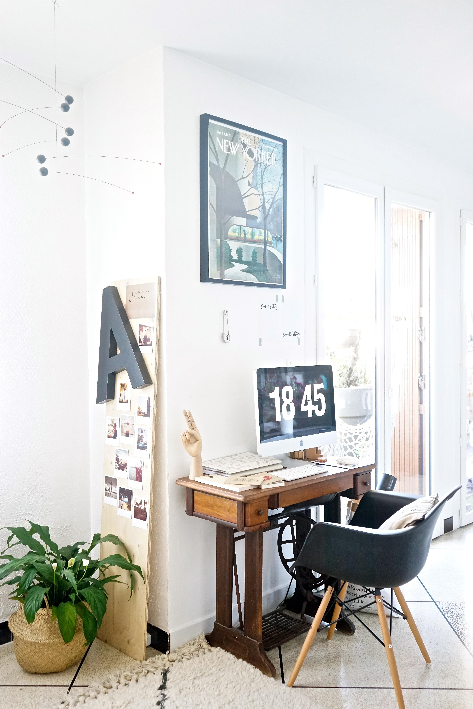 Chez moi  Mon coin bureau et des ides pour intgrer un espace de travail dans le sjour