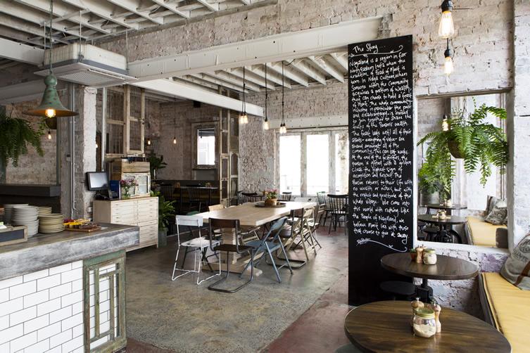 Adresses dco  Style industriel et de la rcup pour un restaurant design  Melbourne