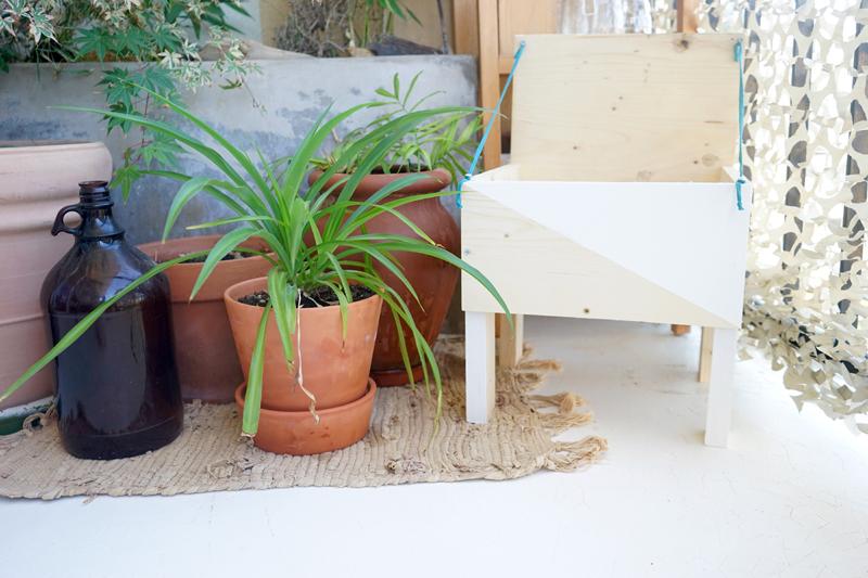 diy porte plante graphique