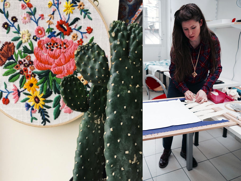 Focus Créateur : La broderie devient de l'art dans les mains de l'artiste Marie Berthouloux