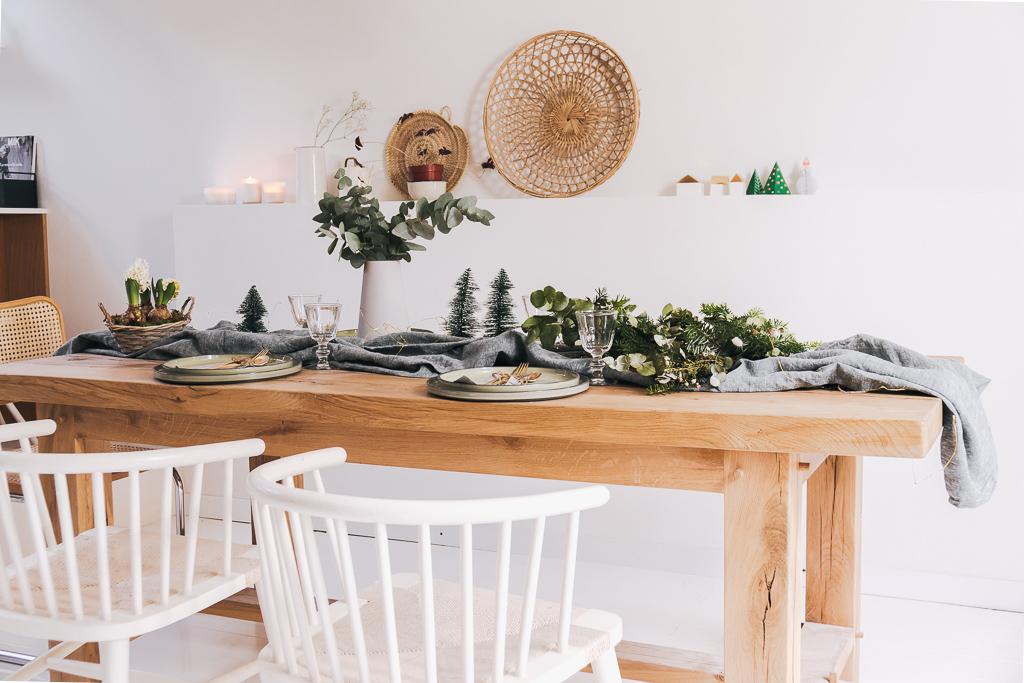 Ma table de Noël nature en 2 versions