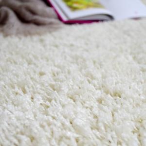 moquette shaggy softy blanc