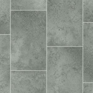 sol vinyle style imitation carrelage gris