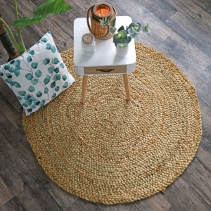 tapis naturel rond boho en jute