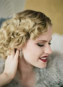 1920s Finger Waves and Red Lip