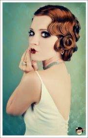 1920s wedding hair and makeup