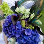 Peacock Feather Bouquets || 1920s Flowers