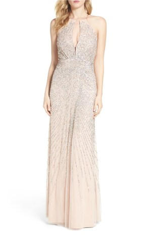 Adrianna Papell Beaded Vintage Wedding Gown
