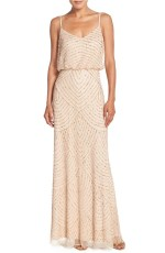 Champagne Adrianna Papell Blouson Gown