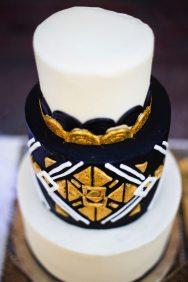 Black + Gold Art Deco Cake | Arizona