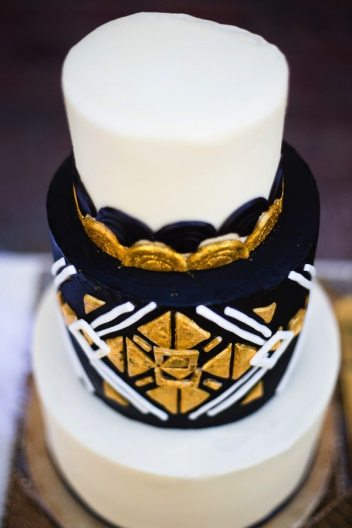Black + Gold Art Deco Cake | Arizona