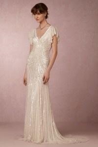 Flutter Sleeve Art Deco Gown