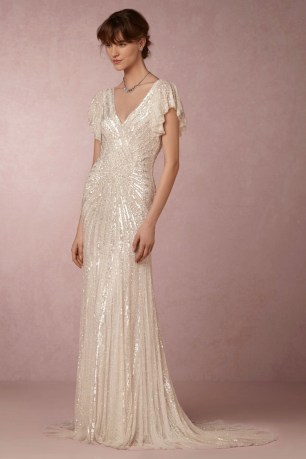 Flutter Sleeve Art Deco Gown
