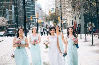 Mint Green Bridesmaids Dresses