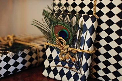 Peacock Feather Wrapping Paper